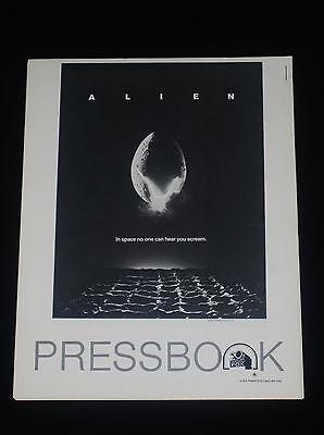 ALIEN 1979 * RIDLEY SCOTT * SCI-FI HORROR * PRESSBOOK * NEAR MINT UNUSED * RARE!