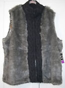 Plus Size Women Faux Fur Vest
