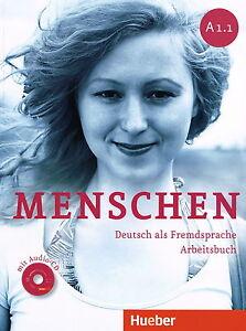hueber menschen a1 1 arbeitsbuch mit audio cd deutsch als fremdsprache new 3193119016 ebay. Black Bedroom Furniture Sets. Home Design Ideas