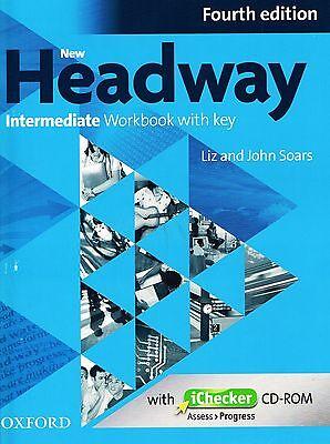 NEW HEADWAY Intermediate Fourth Edition Workbook with Key & iChecker CD-ROM @NEW
