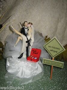 Funny Wedding Sexy Bride Sign Fishing Cake Topper EBay