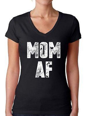 Mom AF V-Neck Tshirt Mom V Neck Shirt Funny Mom Gifts for Women Best Mom (Best Shirt For Women)