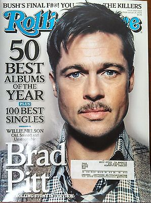 Rolling Stone - January 8, 2009 Brad Pitt Cover w. 50 Best Albums of