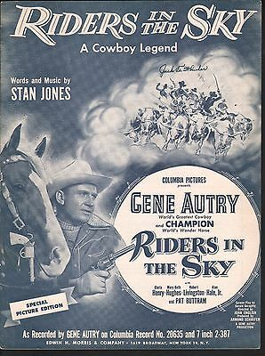 Riders in the Sky 1949 Gene Autry Sheet Music
