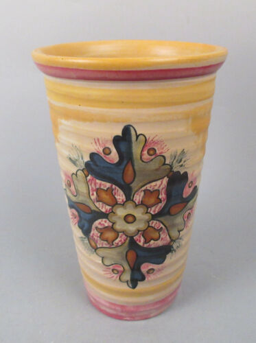 Weller Art Deco Pottery Barcelona Vase Hand-Painted Floral Designs Spanish?