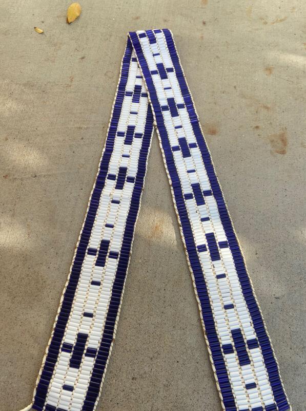 Wampum strap native made Mountain Man rendezvous cherokee black powder horn