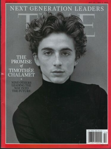 Time Magazine  October 25th 2021  The Promise Timothee Chalamet
