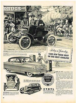 Vintage 1952 Magazine Ad Ethyl Corporation Cars Run Their Best On The Best