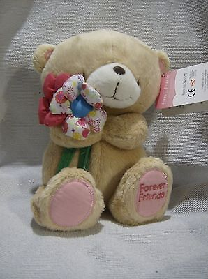 Forever Friends plush 9inch teddy with flowers