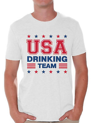 USA Drinking Team T Shirt for Men USA Shirts 4th of July Party Outfit for Him](Outfit For Party)