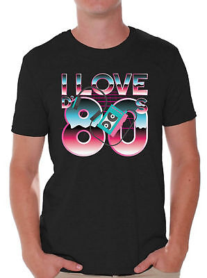 80s Shirts 80s Clothes for Men 80s Disco I Love the 80s T Shirt 80s Accessories - 80s Attire Male