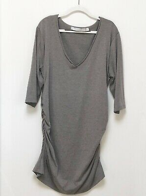 EUC Lola & Sophie V Neck Ruched Sides Tunic Top Size XL Beautiful
