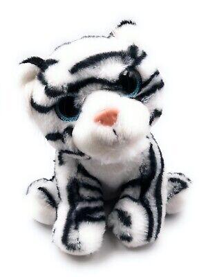 Animal de Peluche Animal Suave Rey Tigre Nieve Tigre Blanco Longitud 25CM