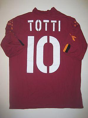 Diadora AS Roma Francesco Totti Jersey Shirt Trikot Maglia Italia Home 2001-2002 image