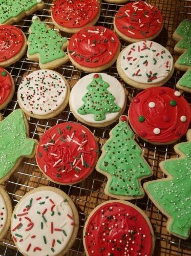 Gluten Free Christmas Sugar Cookies - 16 Count - Homemade