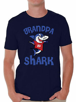 Grandpa Shark Tshirt Shark Family Shirt for Men Shark Themed Party Outfit](Outfit For Party)