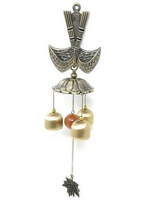 Feng Shui Brass Door Chime Wind Chime windbell - Chinese Fu (Fortune) Design