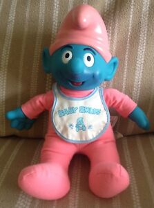 Talking Baby Smurf Doll 1996