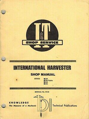 International 234 234 Hydro 244 254 Tractor It Shop Manual Ih-55