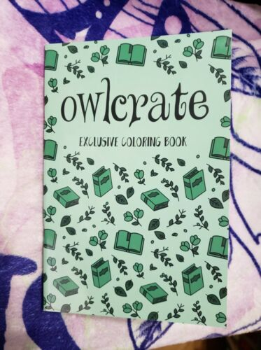 Owlcrate Coloring Book inspired by the Monthly Pin Collection.