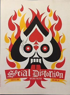 Social Distortion signed Concert Poster