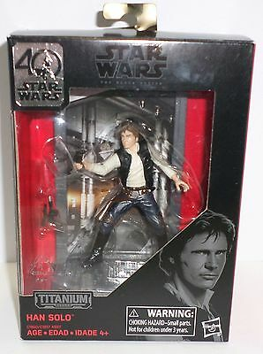 Star Wars The Black Series Titanium Diecast Figurine Han Solo ages 4+