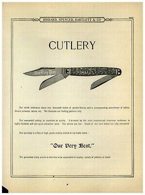 1899 PAPER AD 56 PG Our Very Best Hibbard Spencer Bartlett Pocket Knife Knives