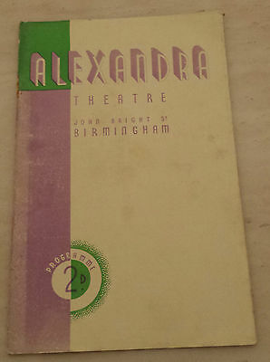 1938 Alexandra Theatre: Mary Graham James Viccars in AND SO TO BED