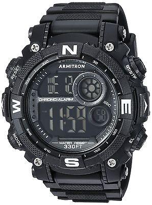 Armitron Sport Men's 40/8284BLK Digital Chronograph Black Re