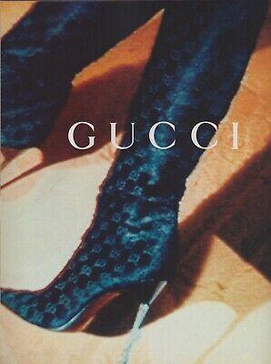 1995 Gucci Logo Boots Sexy Stiletto High Heel Heels Vintage Print Ad 1990s