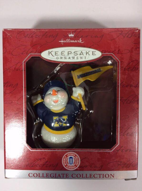 Hallmark Keepsake. Ornament, Michigan Collegiate Collection Handcrafted 1998