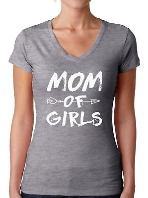 Mom of Girls V-neck T shirts Shirts Tops  Mom Life Mother's Day Best Mom Ever