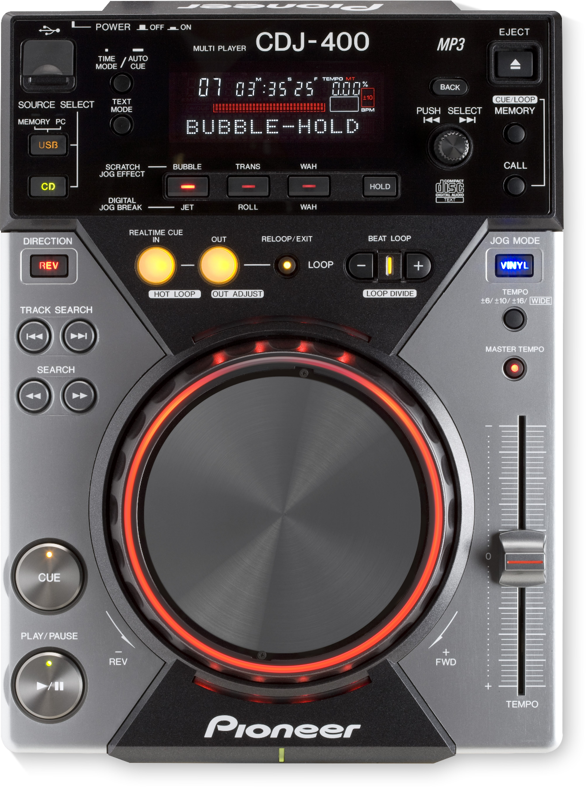 Pioneer CDJ-400 digital CD/MP3/USB scratch media player deck