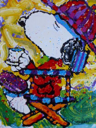 Tom Everhart Tea At The Bel Air Beagle Club -3:00 Pm Snoopy Peanuts  Hand Signed