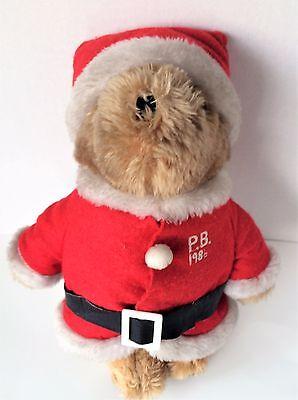Paddington Bear Christmas 1986 Santa Claus Outfit 13 In Stuffed Teddy Eden Toys