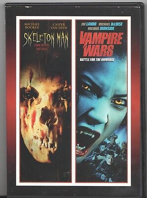 Movie DVD - 2 Feature Films: SKELETON MAN / VAMPIRE WARS - Pre-owned - Skeleton Man Movie