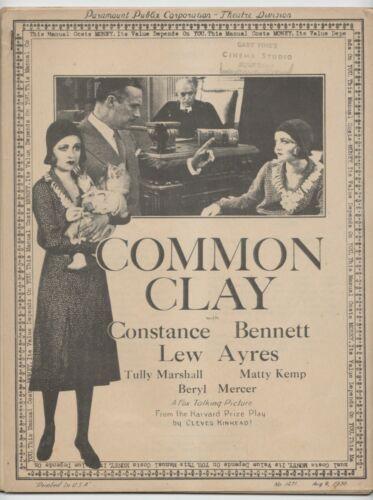 1930 Common Clay Movie Pressbook Constance Bennett Fox talking picture