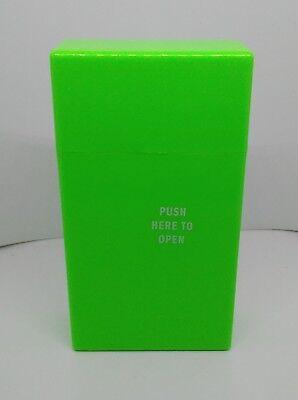 Fujima Neon Green Push To Open 100s Size Cigarette Case