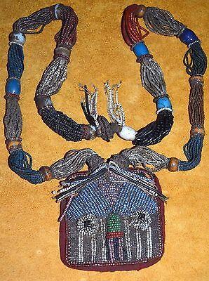 Antique Yoruba Glass Bead Shaman Diviner's Protection Necklace Nigeria, Africa