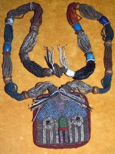 Antique Yoruba Glass Bead Shaman Diviner