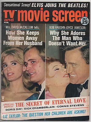 Tv And Movie Screen  Feb 1966    David Mccallum  Robert Vaughn  Man From Uncle