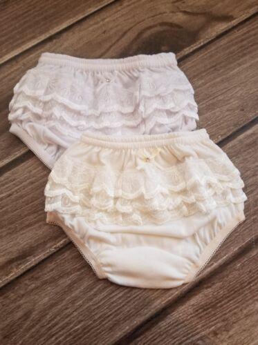 White or Ivory Girl Panties, Baptism Diaper Cover, Christening Girl Panties