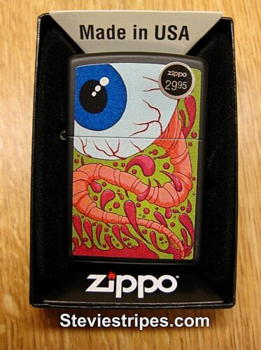 Zippo Lighter WANDERING EYE #218 Kustom Kulture Pinstriper Artwork EXCLUSIVE !!