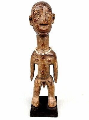 Art African African Fon Statue - Antique Fetish Wooden on base - 20,5 CMS