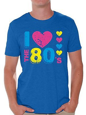 I Love the 80's T shirts Shirts Tops Men's 80s Party 80s Costume 80s Disco - I Party Costumes