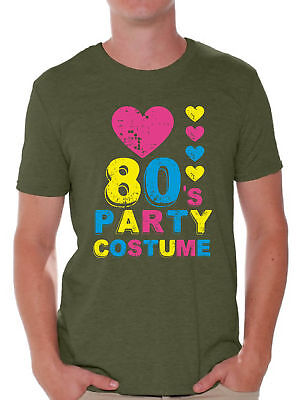 80s Party Costume Men 80s Shirts for 80s Disco Party Neon Retro 80s Clothes (Disco Clothing Men)
