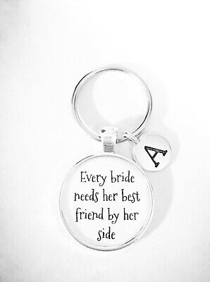 Wedding Keychain Maid Of Honor Matron Of Honor Bridesmaid Gift Initial - Maid Of Honor Matron Of Honor