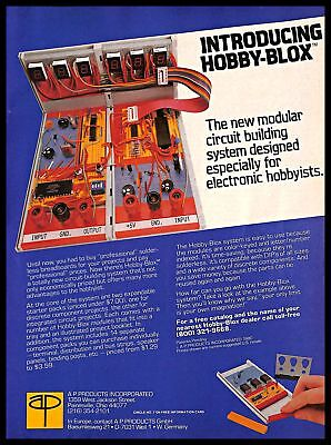 1980 Hobby-Blox Modular Circuit Building System Vintage PRINT AD Electronic