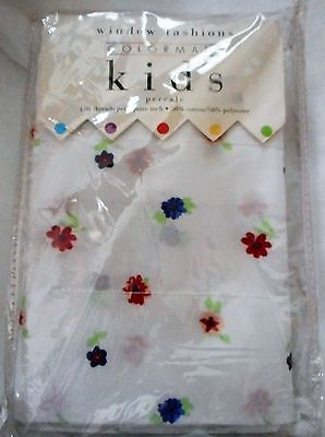 Colormate Kids POUF/BALLOON Valance - RED BLUE FLORAL & WHITE   NEW IN PKG - Kids Customes