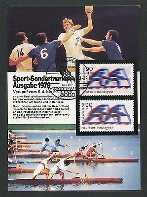 BRD MK 1979 SPORT RUDERN KANU CANOE MAXIMUMKARTE CARTE MAXIMUM CARD MC CM d5169